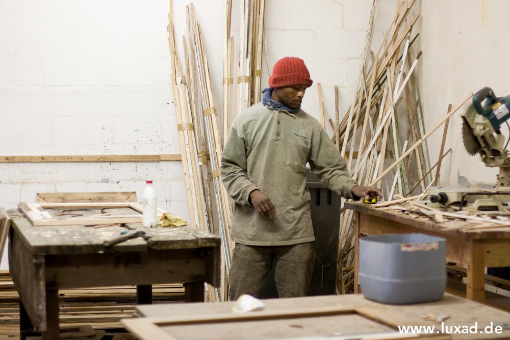 Bilderrahmen aus Holzleisten