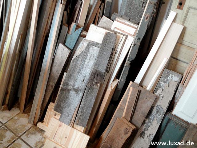 Holzlager für Bilderrahmen