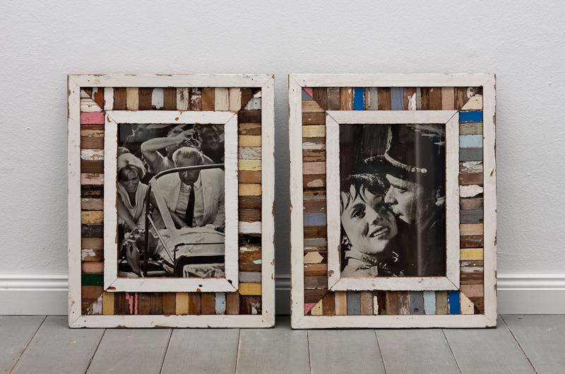 Holzmosaik Bilderrahmen