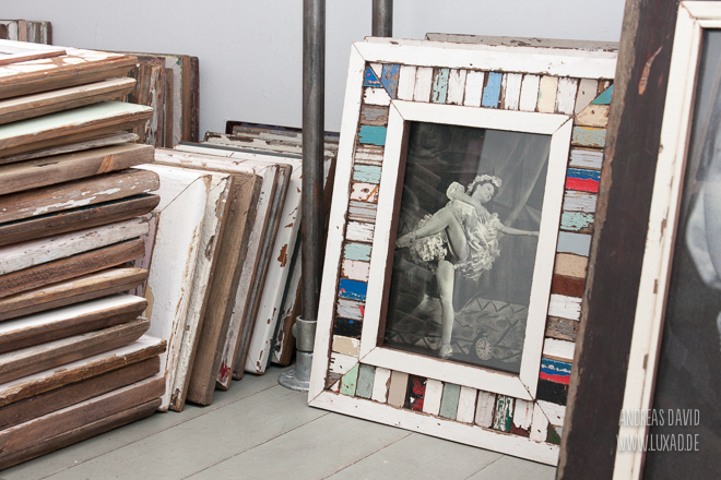 Bilderrahmen DIN A4 Holzmosaik