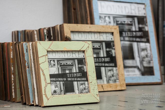 Fotorahmen aus recycelten Türen