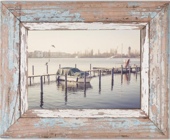 Fotorahmen aus recyceltem Holz
