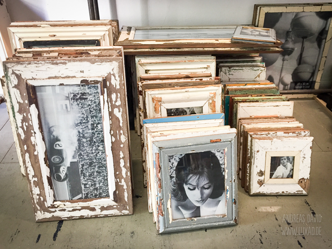 Reclaimed timber picture frames
