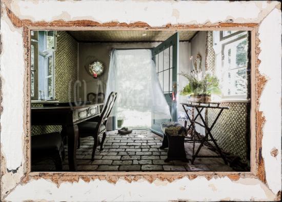 Fotokunst mit Bilderrahmen aus recyceltem Holz