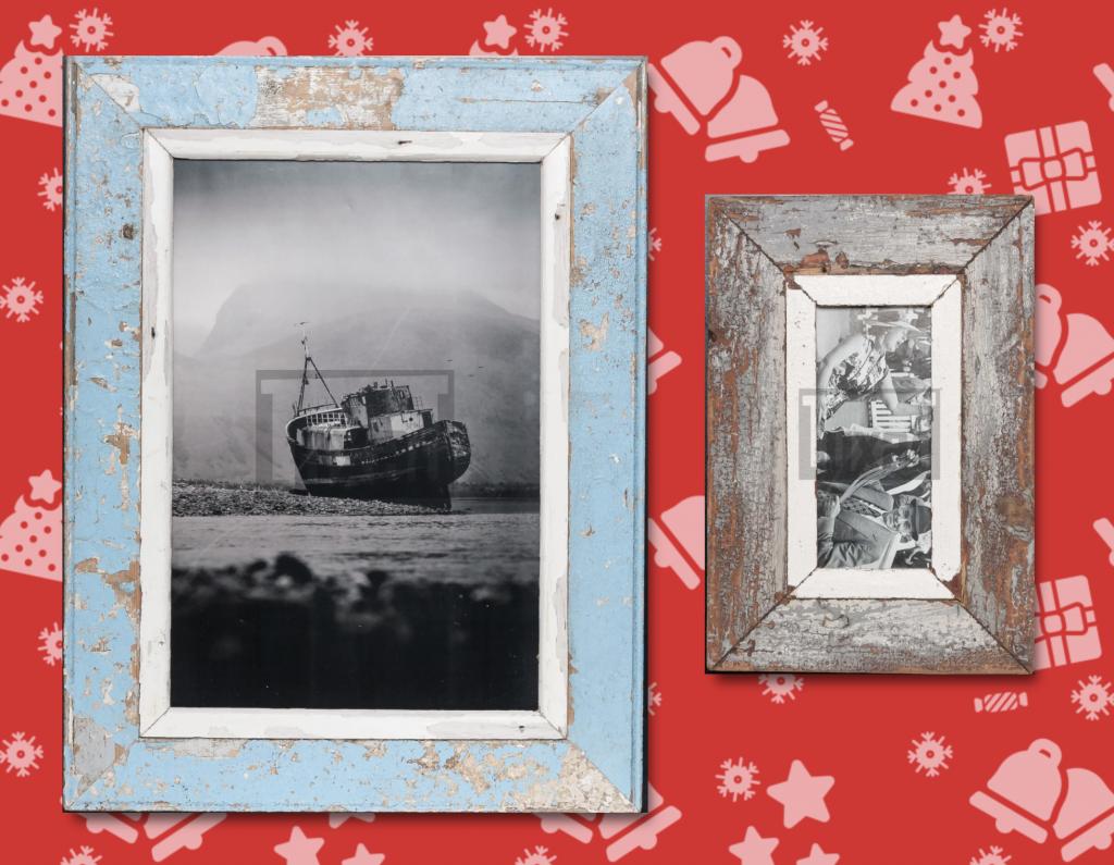 Vintage Bilderrahmen aus Altholz