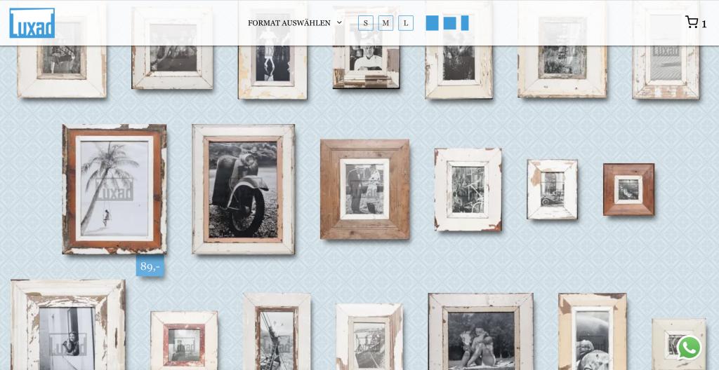 Vintage Bilderrahmen für Urlaubsfotos